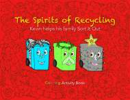 Pages from Spirits of Recycling Coloring Book